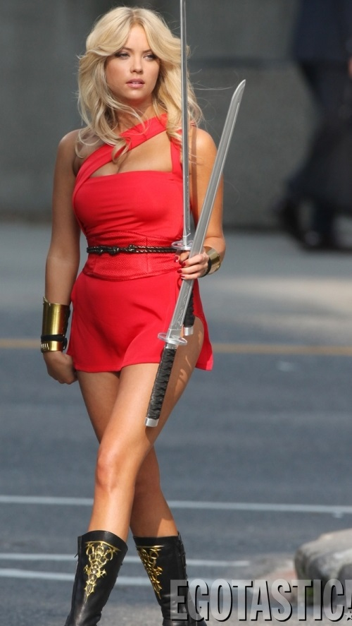 Ashley-Benson-in-a-Short-Red-Dress-on-the-Set-of-Pixels-01-675x900.jpg