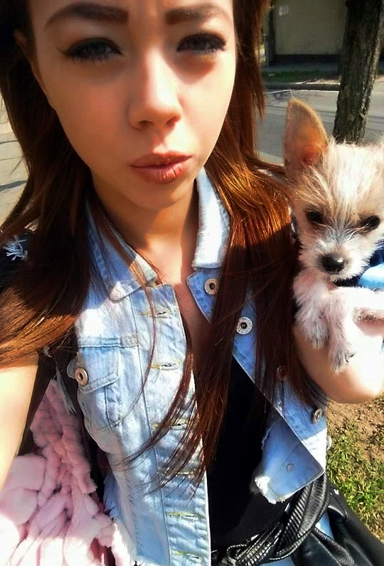 Tricia Teen with her puppy_24.3.2015.jpg