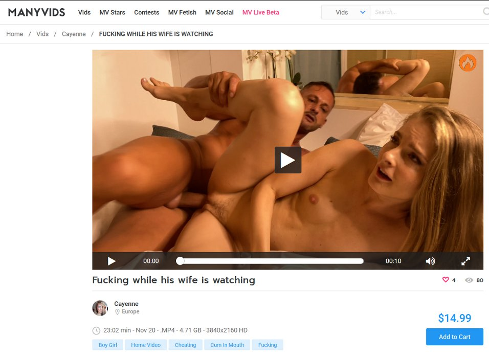 Nov 20, 2020 - Fucking while his wife is watching - Cayenne Klein - Manyvids.com.jpg